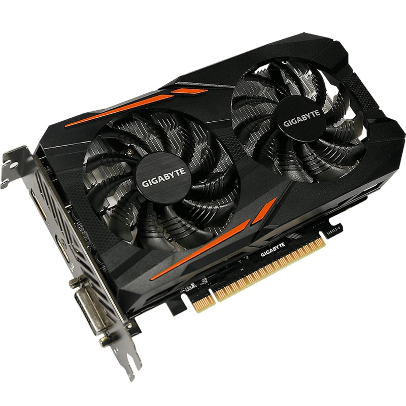 Видеокарта GIGABYTE GeForce GTX 1050 Ti 4GB вид 2
